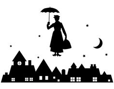 Mary Poppins backdrop for party