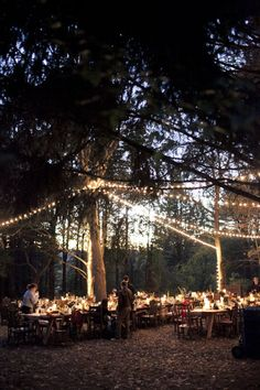 what I want to do is bring the outdoors in, hang garlands from the top of canopy, mixed with layers of tied rag, hanging in a texturized sort, mixed with structured lines of lighting. Wedding Bells, Wedding Events, Wedding Reception, Rustic Wedding, Wedding Gowns, Foto Wedding, Dream Wedding, Woodland Wedding Inspiration, Forest Wedding