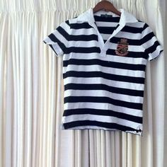 I just added this to my closet on Poshmark: Ralph Lauren - Lauren Active striped polo. Price: $32 Size: M