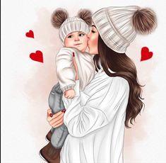 Animal Drawings, Cute Drawings, Girls Vampire Costume, Baby Memorial Tattoos, Sarra Art, Mother Daughter Art, Cute Baby Wallpaper, Lovely Girl Image, Sisters
