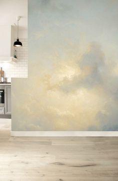Wolkenlucht behang Golden Age Clouds 5 bestaat uit een ruige wolkenlucht geschilderd door oude meesters uit de gouden eeuw.