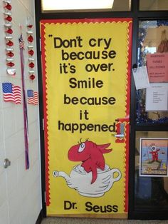 Dr. Seuss door decoration.