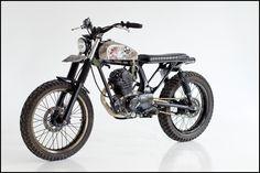 The Dufus, custom Honda CB100 by Smokin Skulls and GunGun