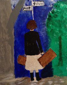 """Crossroads"" by February Grace 8X10 acrylic on canvas"
