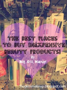 Great list of UNEXPECTED places to buy cheap beauty products and tips/tricks for shopping smart!