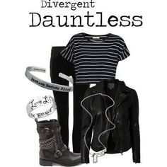 Could do without the movie reference jewelry but the outfit is my style. Edgy Outfits, Grunge Outfits, Grunge Fashion, Outfits For Teens, Cute Outfits, Autumn Outfits, Disney Outfits, Divergent Outfits, Divergent Fashion