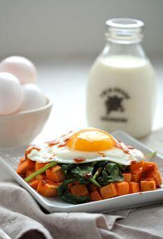 3. Sweet Potato Spinach Breakfast Hash #greatist greatist.com/...