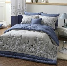 $136.50 Korea purchasing genuine direct mail imports cotton bedding City the quilt family of four modern wind- http://zzkko.com/book/shopping?note=16375