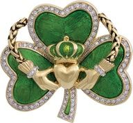My favorite Irish symbol; the Claddaugh (with a shamrock here). It represents love (the heart), loyalty (the crown) and friendship (the hands holding the heart). I have this symbol all over my house and tattooed on my ankle. On a side note, the shamrock represents the Holy Trinity (God, Jesus and the Holy Ghost) and St. Patrick used them to teach this to children. (pinned from @Kathleen S DeCosmo.)