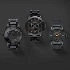 ‎GetGifting‬ with ‪#Nixon‬: All black is sure to please anyone on your list. Featuring the ‪Facet‬, the ‪‎Bullet Chrono‬ and the ‪C39‬.