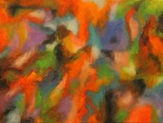 Obscure 18 x 24 ORIGINAL CANVAS PAINTING colorful ABSTRACT ART Karla Gerard #Abstract
