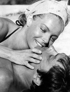 """''I can not watch the movie..'Swimming Pool', because Romy Schneider is not around anymore. She is the most frequent guest of my memories. """" Alain Delon"""
