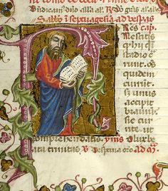 Apostle Paul in initial F   Breviary   Italy, probably Taranto   1350-1400   The Morgan Library & Museum