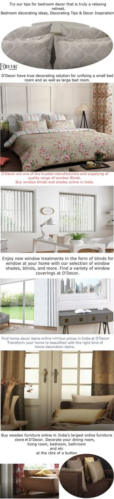 D'decor are one of the trusted manufacturers and supplying of quality range of #windowblinds.