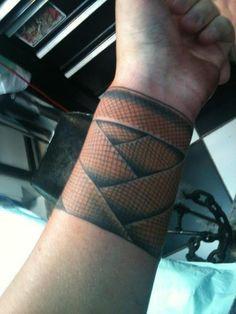 Muay Thai wraps tattoo. i'm sure my husband will like this