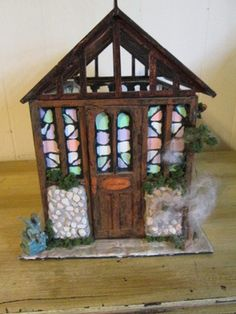 custom 1:12 scale witches greenhouse/potion shack on Ebay now 9.99