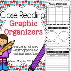 Graphic organizers to help you do a close reading of any text