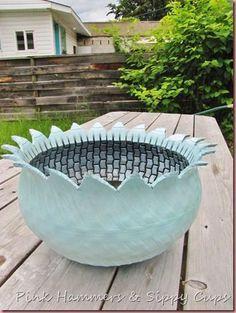 Képtalálat a következőre: Tire Tea Cup Planters