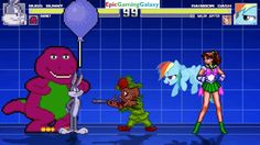 Barney The Dinosaur And Bugs Bunny VS Rainbow Dash & Sailor Jupiter In A MUGEN Match / Battle This video showcases Gameplay of Barney The Dinosaur From The Barney & Friends Series And Bugs Bunny From The Looney Tunes Series VS Sailor Jupiter From The Sailor Moon Series And Rainbow Dash From The My Little Pony Friendship Is Magic Series In A MUGEN Match / Battle / Fight