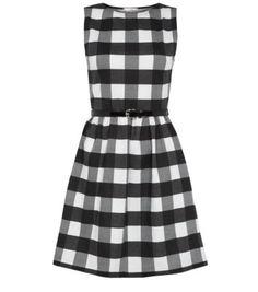 Misumi Monochrome Check Skater Dress