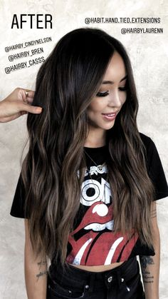 30 unique sun kissed brunette hair color ideas for 2019 024 – Hair – Hair is craft Black Hair Ombre, Best Ombre Hair, Brown Blonde Hair, Black Hair Dyed Brown, Black Brown Ombre Hair, Brown Brown, Dying Hair Black, Ashy Brown Hair Balayage, Asian Balayage