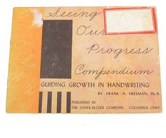 Seeing Our Progress Compendium Guiding Growth in by WhatnotGems, $14.95 A booklet designed to improve your handwriting while challenging yourself to complete projects.  WhatnotGems.etsy.com