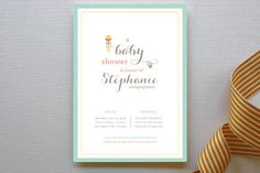 Rattle and Hum Baby Shower Invitations by Kimberly FitzSimons at minted.com