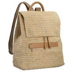 Crochet Leather Backpack l Helen Kaminski