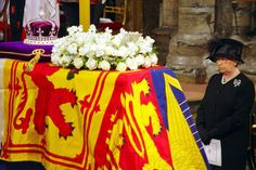 Elizabeth II at her mother's funeral in 2002.  http://www.legacy.com/Obituaries.asp?Page=LifeStory=275516