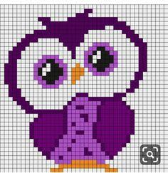 Cross Stitch Owl, Cross Stitch Animals, Cross Stitch Charts, Cross Stitch Designs, Cross Stitching, Cross Stitch Embroidery, Cross Stitch Patterns, Fuse Bead Patterns, Kandi Patterns