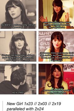 """""""The messy parts... Are the best parts."""" Nick and Jess parallels."""