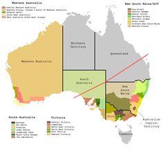 A Map of Australia showing its wine regions.