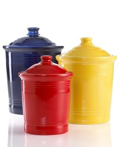 Fiestaware Canisters, we actually bought all medium size ones but in our favorite colors