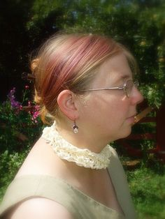 Apple Blossom Queen  Crochet Spring  Collar by Shalotte on Etsy, £5.00