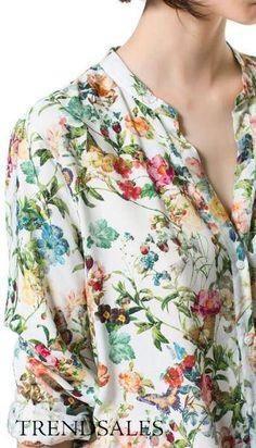 Zara skjorte - str. 36-38 - Floral