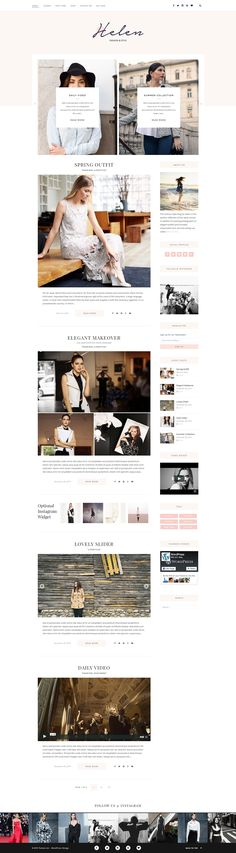 Helen: Responsive WordPress Theme for a Blog