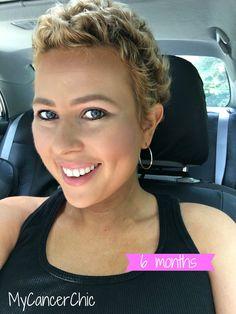 6 Months Chemo Hair Regrowth: My Cancer Chic Short Curly Pixie, Short Hair Cuts, Pixie Bob, Hair Regrowth Shampoo, Natural Hair Regrowth, Grow Long Hair, Grow Hair, New Short Haircuts, Hair Loss Treatment
