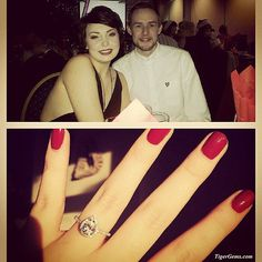 """Awwww she looks so beautiful and happy! ❤️ """"I would just like to say thank you so much! My fiancé purchased the 1.5 carat pear ring from you, which I received on christmas morning!! I spotted this ring a while back but never thought I would ever see it on christmas morning! We live in Scotland, United Kingdom, which is obviously quite a bit away from you! I just wanted to send a little email to tell you that you made my Christmas! Your work is stunning! I have attached a couple of pictures…"""