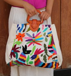 Leather Otomi Handbag by CasaOtomi on Etsy, $189.00