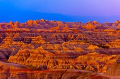 Sunrise at the Badlands Nat'l Park, SD