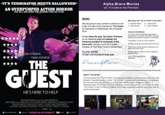 We are giving 5 lucky winners a chance to win a pair of invites to the premiere of 'The Guest' at Cinemacity on Wednesday, 8th October. Simply share the post 'The Guest | Premiere' on our facebook page and answer the following question in comments of the same post, and you could win 2 invites, courtesy of Front Row Filmed Entertainment.