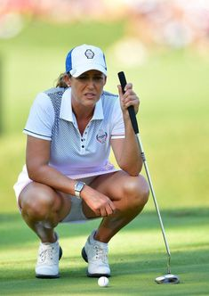 Cristie Kerr Photos - Cristie Kerr of Team USA lines up a putt during the second day afternoon fourball matches of The Solheim Cup at Des Moines Golf and Country Club on August 2017 in West Des Moines, Iowa. - Cristie Kerr Photos - 279 of 2633 Girls Golf, Ladies Golf, Golf Knickers, Golf Now, Golf Sport, Girl Golf Outfit, Sexy Golf, Tennis Players Female, Beautiful Athletes