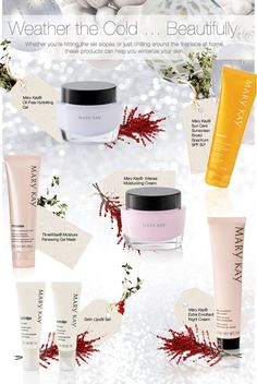 The air is crisp and the wind is clear. It's time to get your skin ready for the change of seasons. Find out how to take care of your winter skin with these great products!! Email nlittle57@marykay.com. Call or text 513-543-8181.