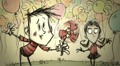 Don't Starve Together - Wes & Willow Promo Art