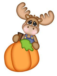 Pumpkin Moose Peeker