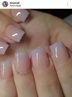 nude to lavender glossy ombre – I'm liking this. I might have to try nude to lavender glossy ombre – I'm liking this. Gorgeous Nails, Love Nails, Pink Nails, Pretty Nails, Gel Nails, Nail Polish, Color Nails, Manicures, Shellac