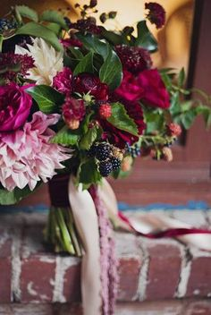Marsala, Burgundy and Berry Bouquet
