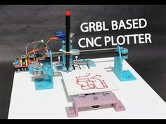 How to make GRBL+arduino based CNC plotter PCB ink plotter - YouTube