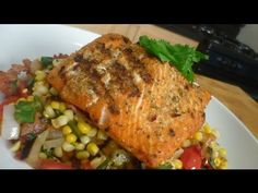 Grilled Sword Fish w/ Bacon and Fire Roasted Corn Succotash