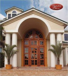 Yes, it is impact hurricane rated! Exterior Doors, Entry Doors, Front Doors, Entrance, Entryway, Custom Wood Doors, My Dream Home, Mexico, House Design